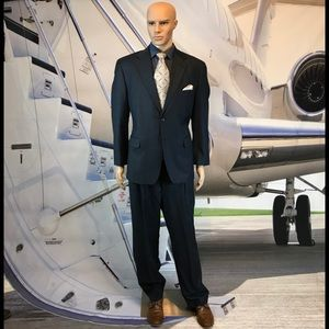 💰SOLD💰Suit Stafford blue pinstripe 44R